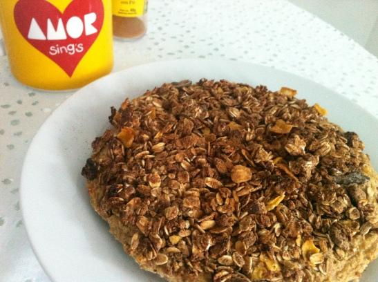 torta de banana e granola sem farinha