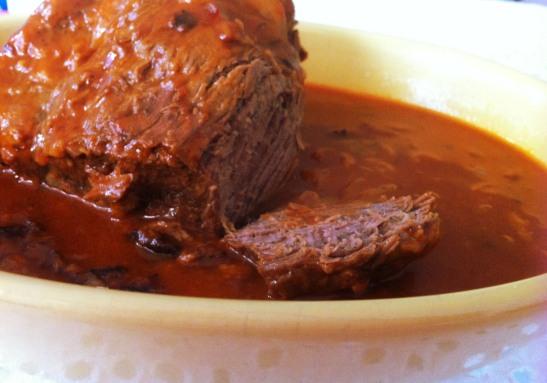 carne assada panela de pressão